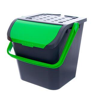Koš na tříděný odpad 28 l, zelený