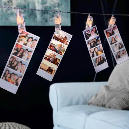 Světelný řetěz s LED kolíčky na fotografie, s 60 LED kolíčky
