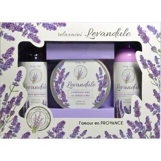 Dárková kazeta kosmetiky s levandulovým olejem BT Premium