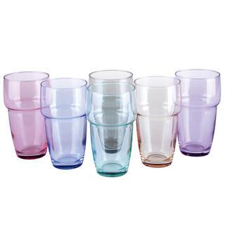 Sada 6 barevných sklenic GALETA