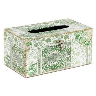 Dekorativní box na papírové kapesníky, plátno s potiskem ORNAMENT