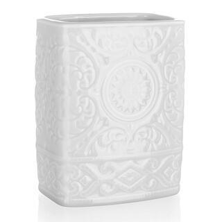 Kelímek na kartáčky keramický bílý