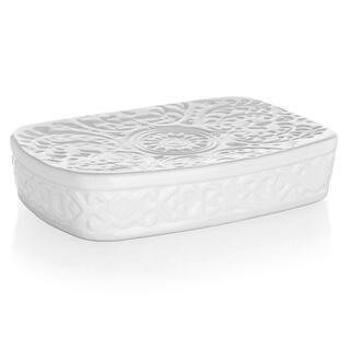 Miska na mýdlo keramická bílá