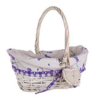 Proutěný košík s levandulí s držadlem