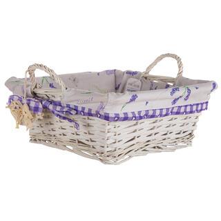 Proutěný košík s levandulí čtvercový