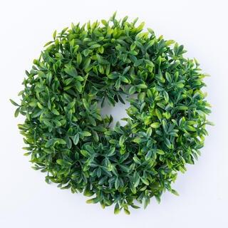 Věnec lístečky zelený 26 cm