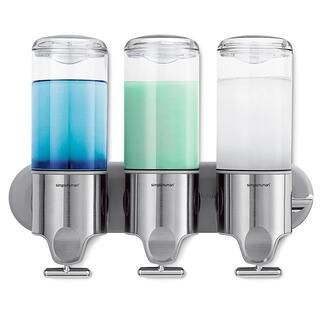 Nástěnný dávkovač tekutého mýdla Simplehuman, 3dílný