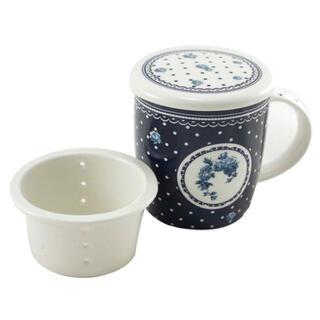Hrnek ELEGANT modrý se sítkem na čaj 400 ml
