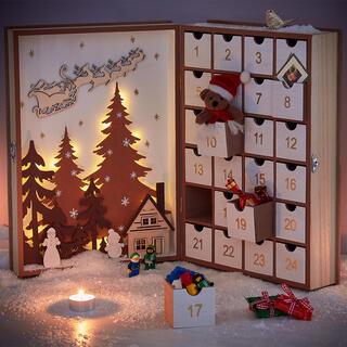 Velký adventní kalendář šuplíčky