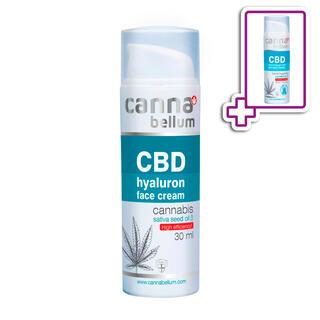 CBD Pleťový krém s kyselinou hyaluronovou 30 ml + ZDARMA CBD Čisticí gel na ruce 50 ml