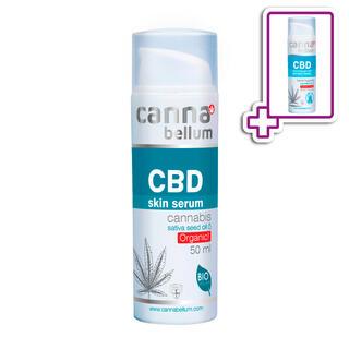 CBD Pleťové sérum 50 ml + ZDARMA CBD Čisticí gel na ruce 50 ml