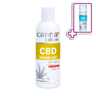 CBD sprchový gel 200 ml + ZDARMA CBD Čisticí gel na ruce 50 ml