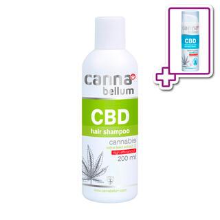 CBD Vlasový šampon 200 ml + ZDARMA CBD Čisticí gel na ruce 50 ml