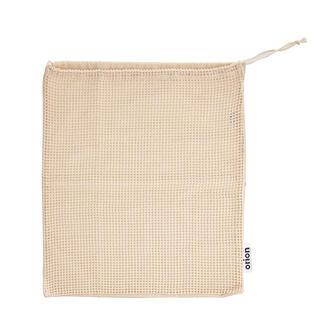 Zatahovací bavlněný sáček děrovaný/plný ECO 36 x 40 cm