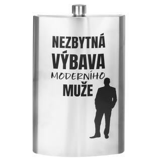 Nerezová kapesní láhev NEZBYTNÁ VÝBAVA MAXI 1,7 l