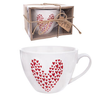Porcelánový hrnek LOVE GIFT 490 ml