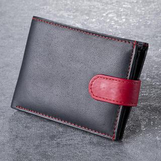 Pánská kožená peněženka s červeným klipem