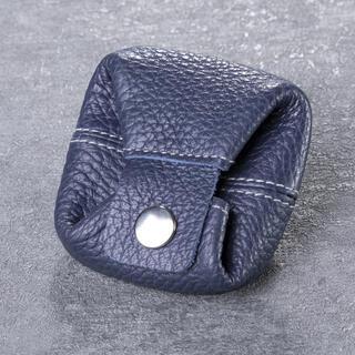 Kožená peněženka na mince modrá
