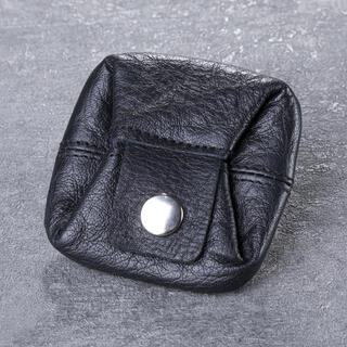 Kožená peněženka na mince černá