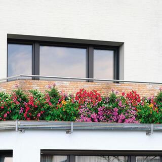Balkonová zástěna KVĚTINY