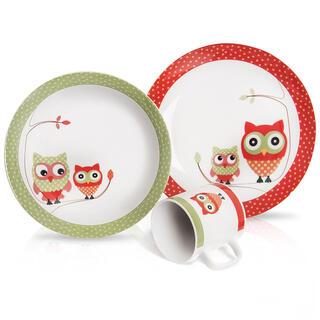 Dětská porcelánová jídelní sada SOVA 3 ks