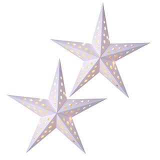 Papírová vánoční hvězda s LED, sada 2 ks