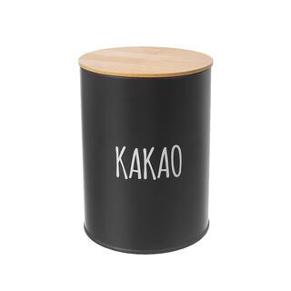 Kulatá plechová dóza KAKAO Black