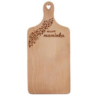 Prkénko dřevěné MAMINKA 30x14 cm