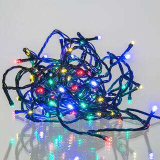 Světelný řetěz barevný, 8 funkcí, 120 LED, 12 + 5 m