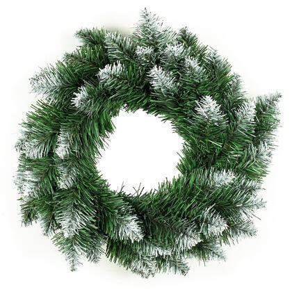 Umělý vánoční věnec, bílé špičky, pr. 50 cm