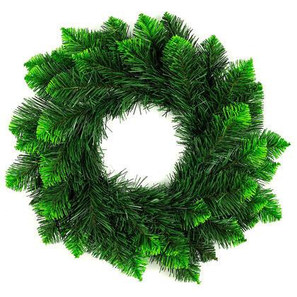 Umělý vánoční věnec, zelené špičky, pr. 50 cm