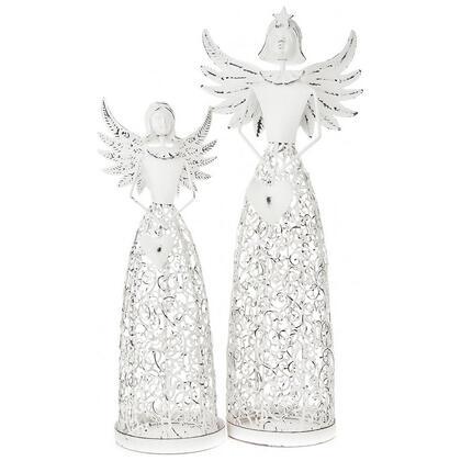 Svícen anděl se srdcem bílý