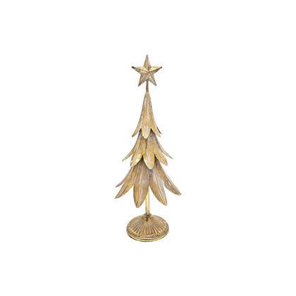 Dekorační vánoční stromek s hvězdou zlatý, malý