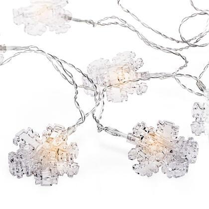 Světelný řetěz s kolíčky na fotografie VLOČKY průhledné, 10 LED