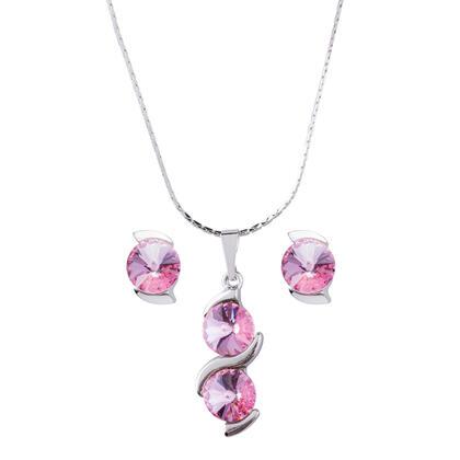 Sada náhrdelníku a náušnic SISI Swarovski světle růžová