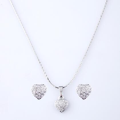 Sada náhrdelníku a náušnic SRDCE s krystaly Swarovski