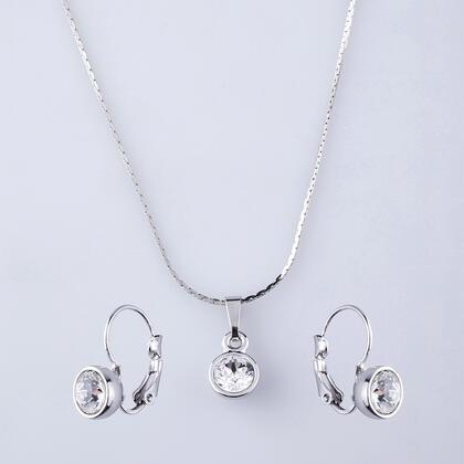 Sada náhrdelníku a náušnic KLASIK s krystaly Swarovski
