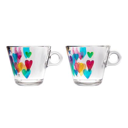 Sada kávových hrnků LOVE RAINBOW 280 ml 2 ks