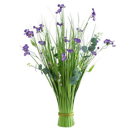 Okrasná tráva svazek, fialové květy 70 cm