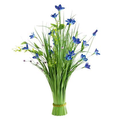 Okrasná tráva svazek modré květy 70 cm