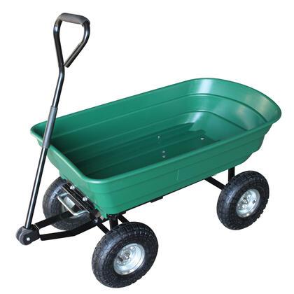 Zahradní vozík se sklápěcím mechanismem zelená