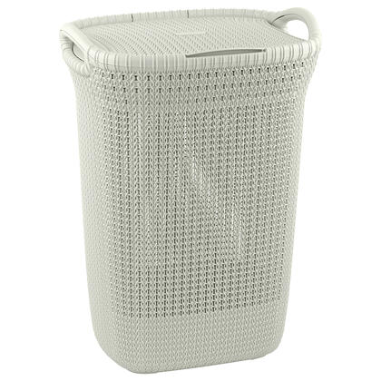Koš na špinavé prádlo KNIT bílý 57 l