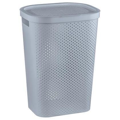 Koš na špinavé prádlo INFINITY děrovaný šedý 60 l