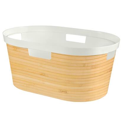 Koš na čisté prádlo INFINITY  vzor bambus 40 l