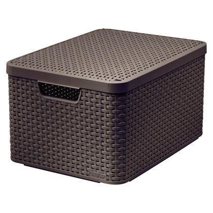 Úložný box STYLE hnědý s víkem