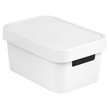 Úložný box INFINITY s víkem bílý