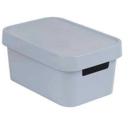 Úložný box INFINITY  s víkem šedý