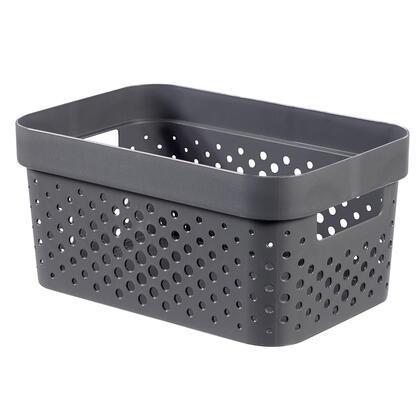 Úložný box INFINITY recyklovaný plast tmavě šedý