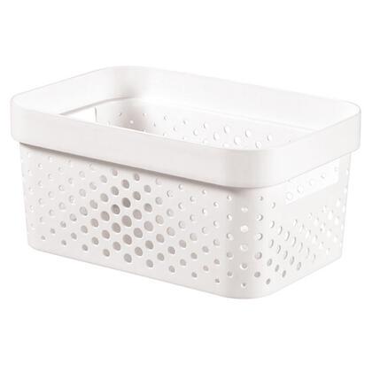 Úložný box INFINITY recyklovaný plast bílý