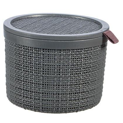 Košík JUTE kulatý tmavě šedá